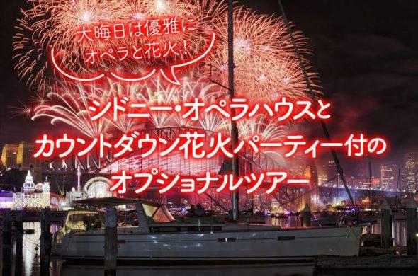 シドニー・オペラハウスとカウントダウン花火パーティー付のオプショナルツアー