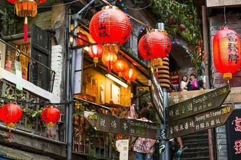 九フンの街並み 台湾・台北