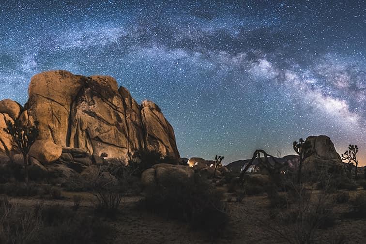 星空(テントからの風景ではなく国立公園内のイメージです)