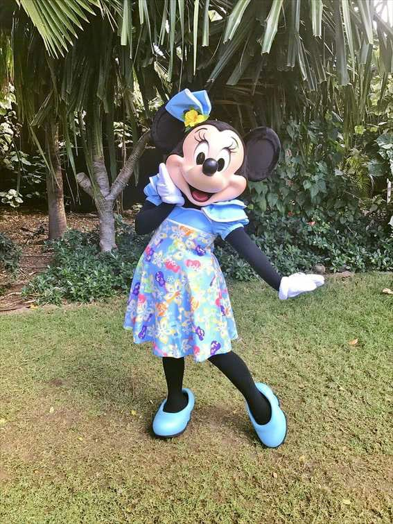ハワイアンなワンピースのミニーマウス