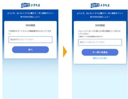 GOTOトラベル クーポン SMS