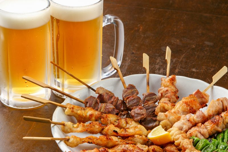 yakitori and beers