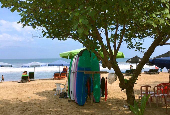 サーフィンを楽しんだレギャンビーチ