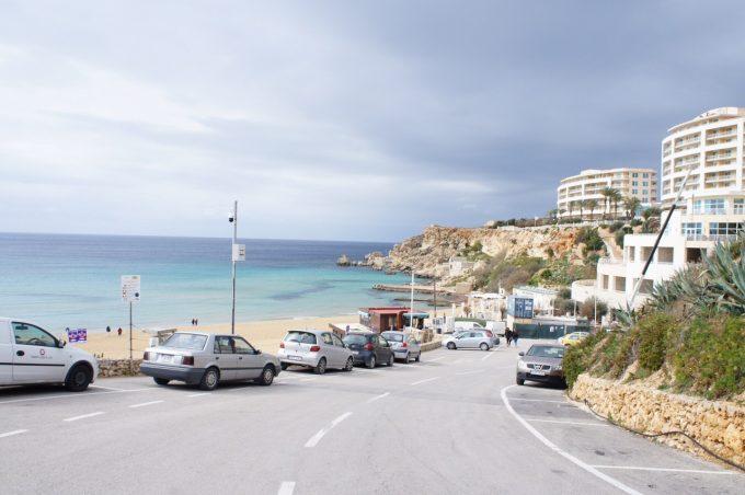 マルタ島の海沿い