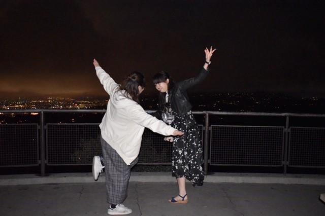 グリフィス天文台にてラ・ラ・ランドっぽいポーズ