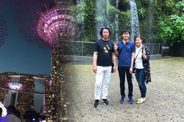 今年はシンガポールで主人の誕生日をお祝いできました