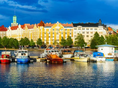ヘルシンキの美しい港