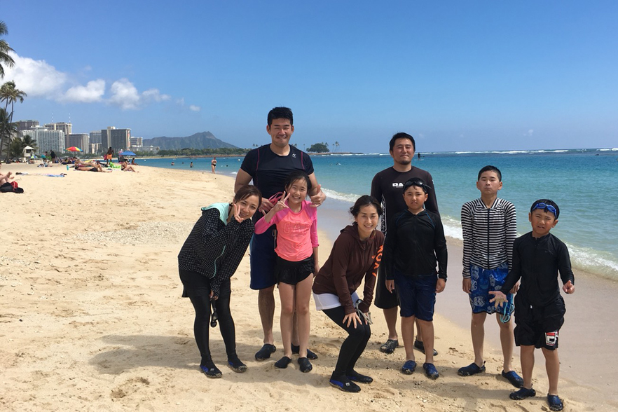 ハワイ家族旅行