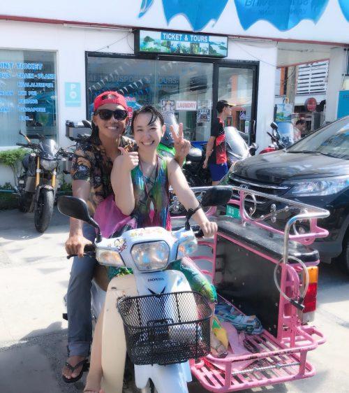 乗せてもらったバイクのサイドカー