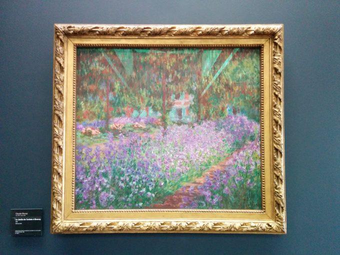 オルセー美術館にてモネの庭の絵画