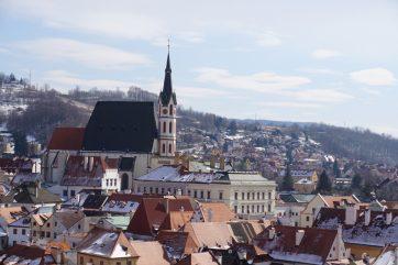 新婚旅行でも歩いたチェスキークルムロフの街並み