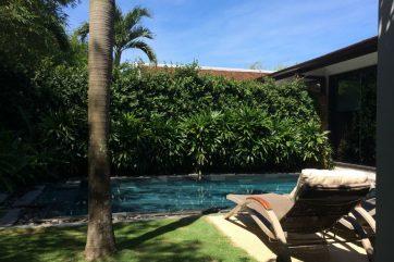 ホテルには各お部屋にプールがあります。