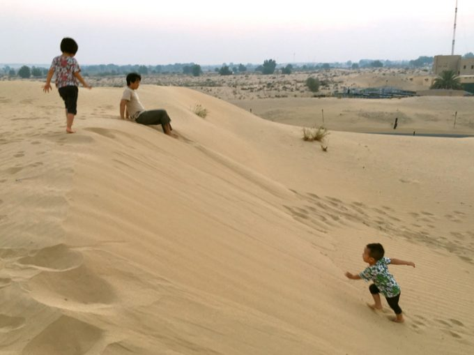 辺り一面非日常の砂漠の世界
