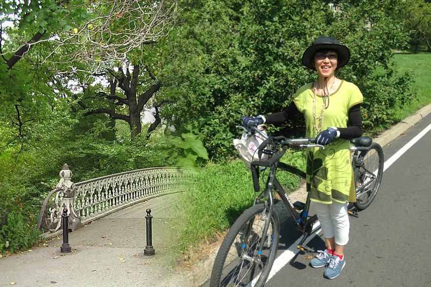 セントラルパークで2人乗り自転車に乗りました!