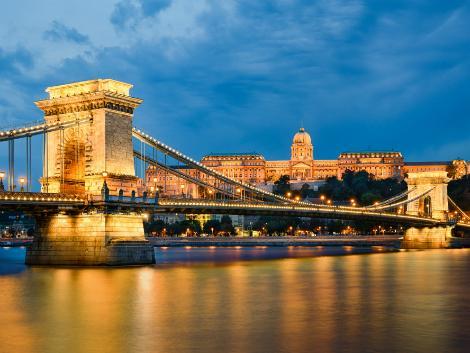 ブダペスト:ブダ城とセーチェーニ鎖橋