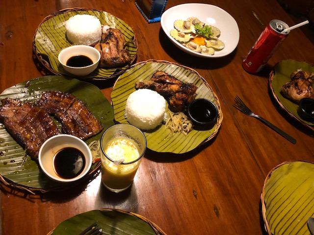 1日目夕食 マリゴバグリルでの食事