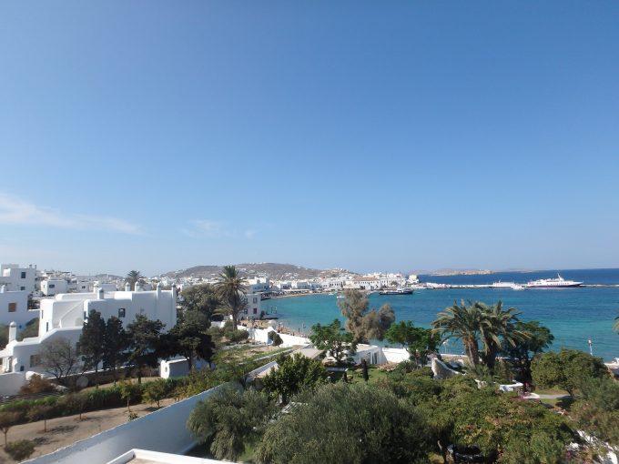 ミコノス Leto Hotelバルコニーの眺め