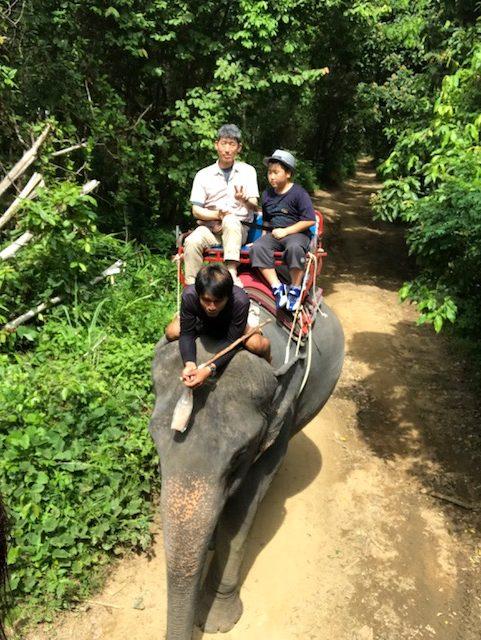ゾウに乗る時は現金必須((笑)