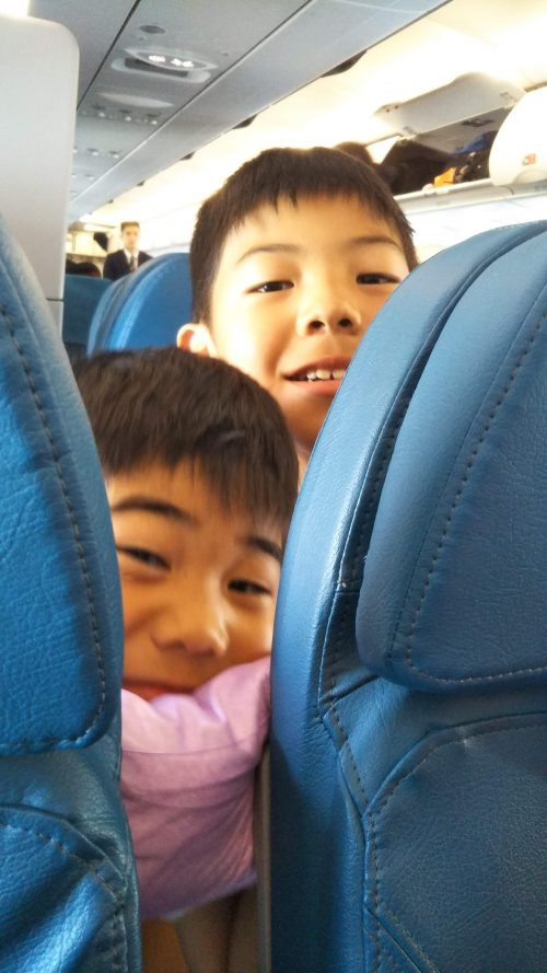 フィリピン航空の中
