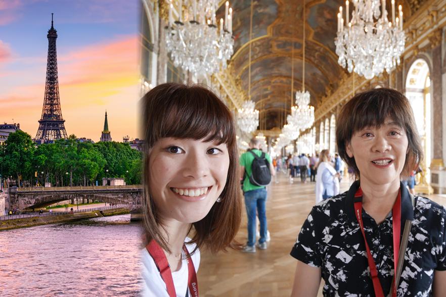 豪華絢爛なベルサイユ宮殿にて
