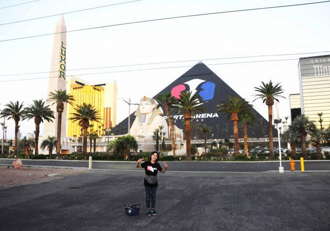 スフィンクスとピラミッド型の外観