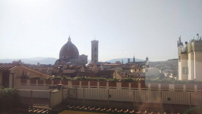 ホテルの朝食会場からの風景です。