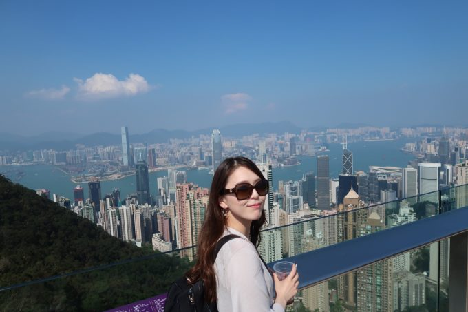 香港ヴィクトリアピークにて