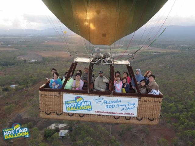 気球での集合写真