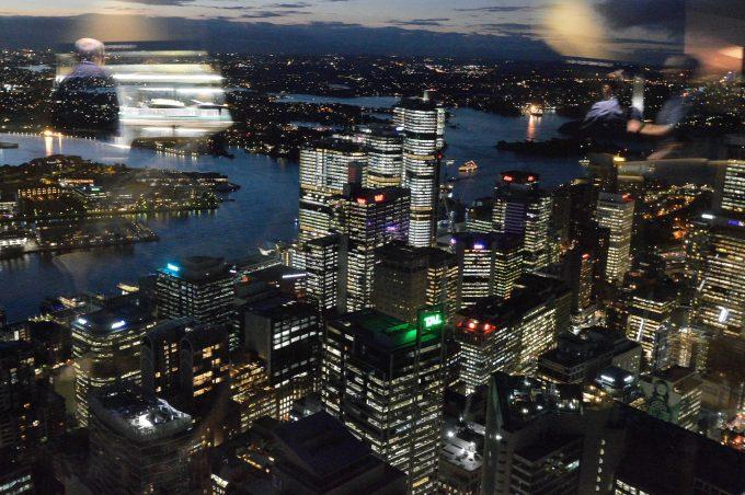 シドニータワーからの夜景。食事もgood!