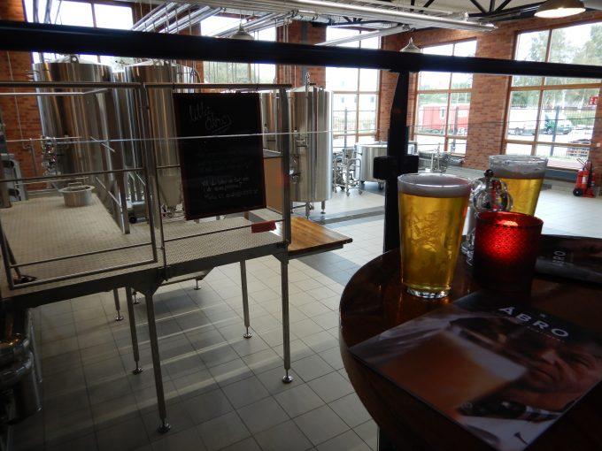 ビールの醸造所併設のレストラン