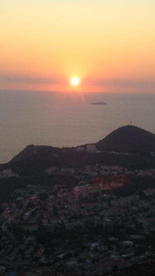 スルギ山からの夕日