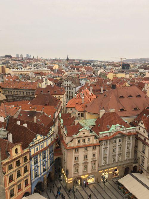 時計台からのプラハの街並み