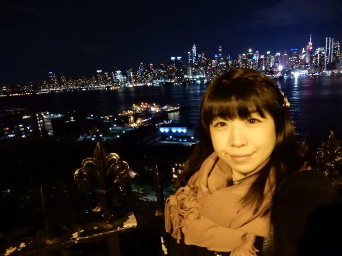 ニュージャージーのハミルトン・パークから見る夜景