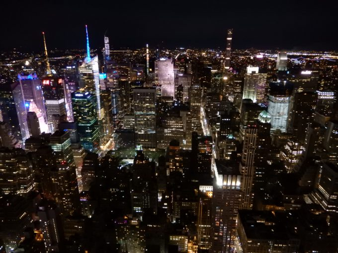 エンパイアステートビル展望台から見る夜景