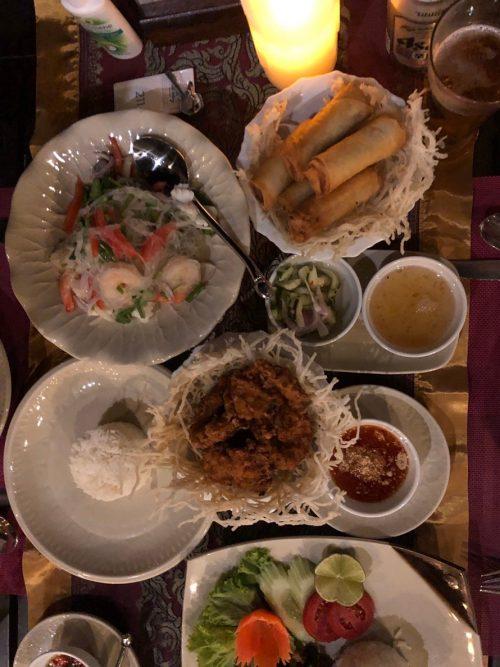 タイ料理の品々