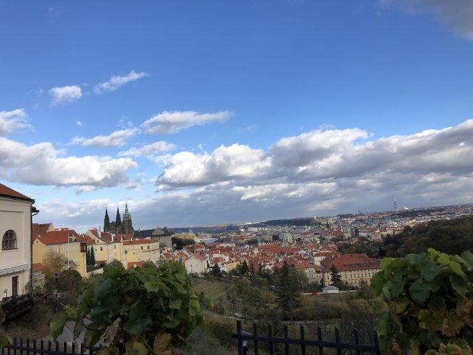 ストラホフ修道院の高台から