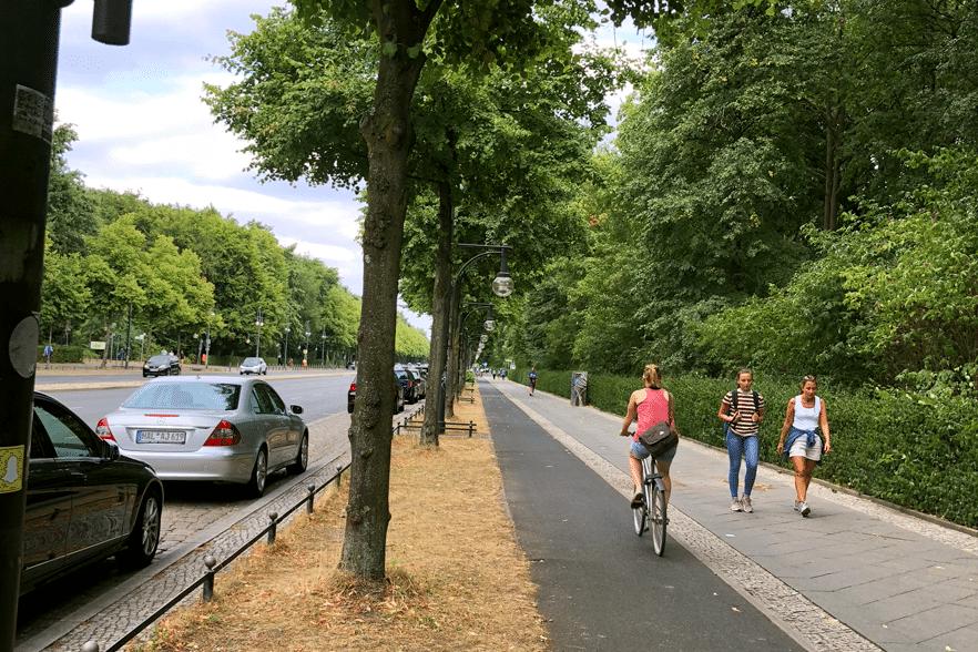 ベルリンの自転車用通路
