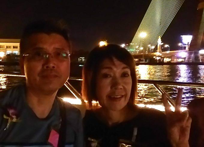 ライトアップされたバンコクの風景を楽しみました!