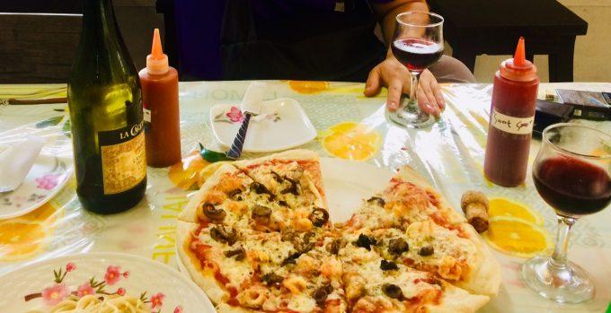 イタリア人オーナーのピザ屋さんにも♪