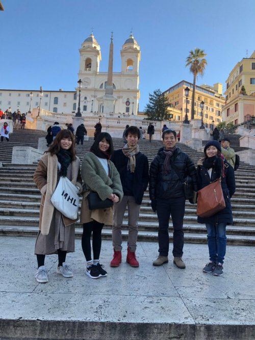 スペイン広場にて