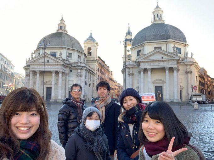 ポポロ広場にて