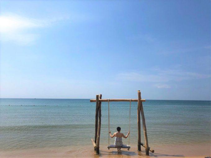 プライベートビーチでの絶景