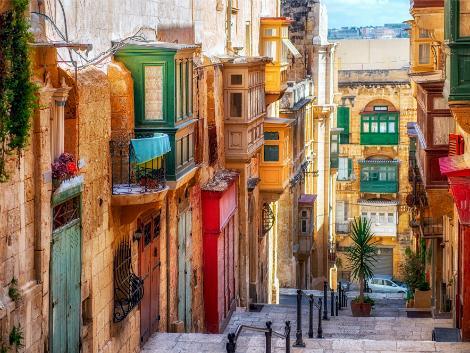 マルタ(ヴァレッタ地区):街並み