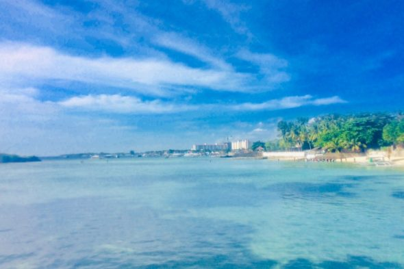ホテルビーチから見た景色