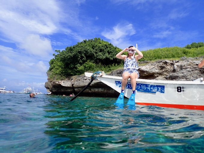 サンゴ礁が美しいペスカドール島