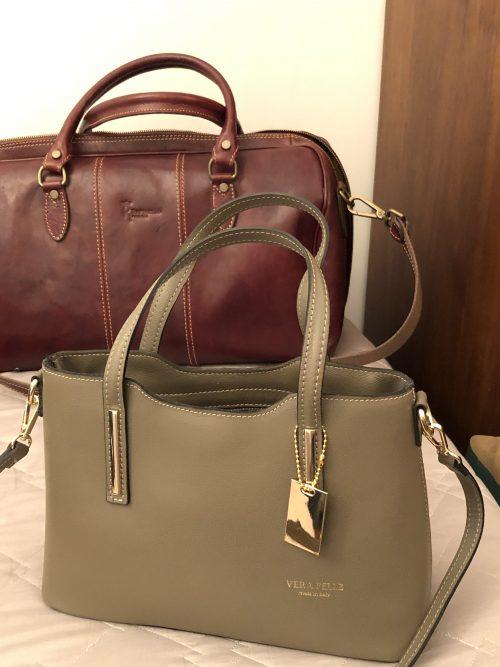 フィレンツェで買ったバッグ「全部でEUR210ほど!」