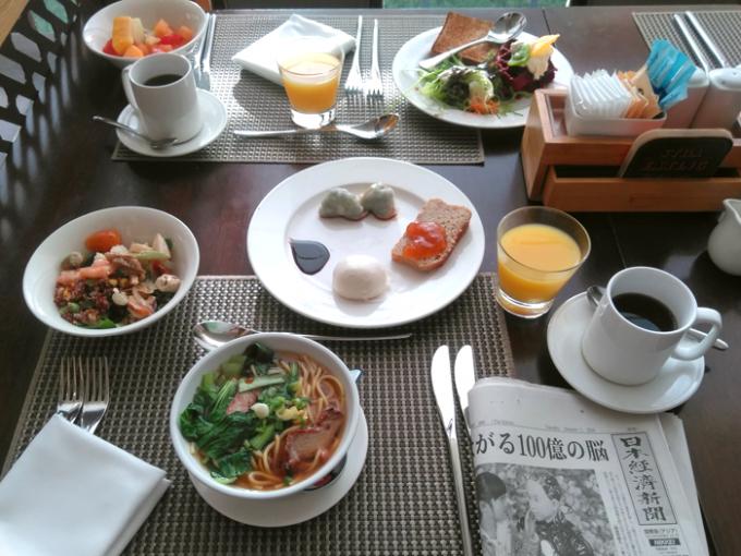 メニューが充実のホテルの朝食