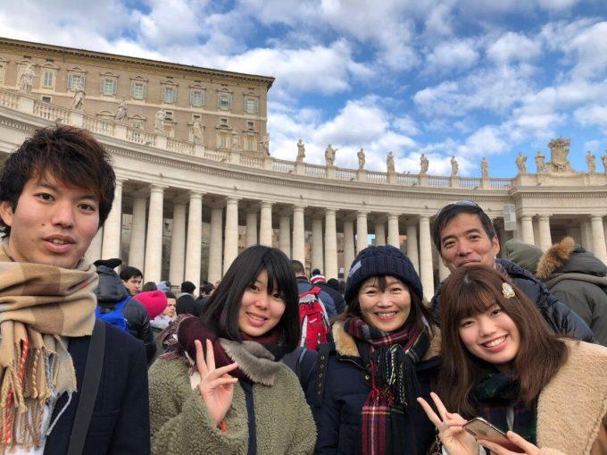 ローマ法王のスピーチを聞きに、サン・ピエトロ広場へ