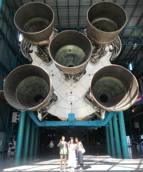 圧倒されたアポロの噴射口