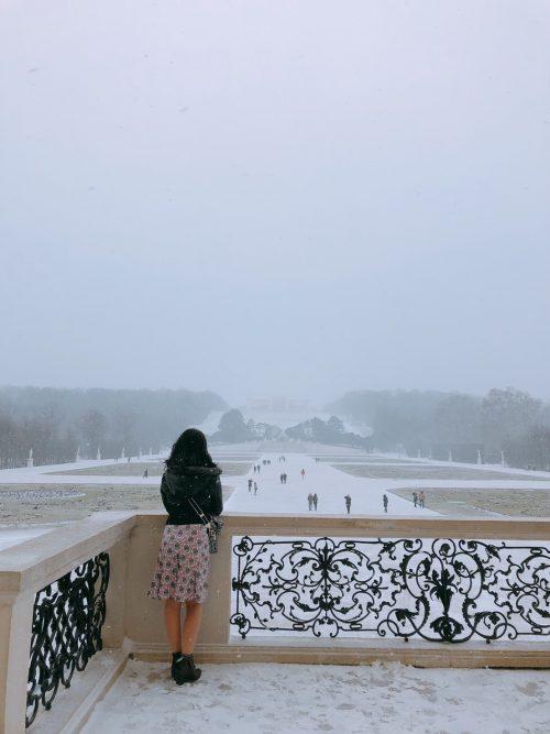 シェーンブルン宮殿は一面雪景色